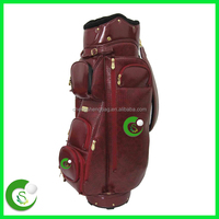 Red Custom Leather Golf Bags