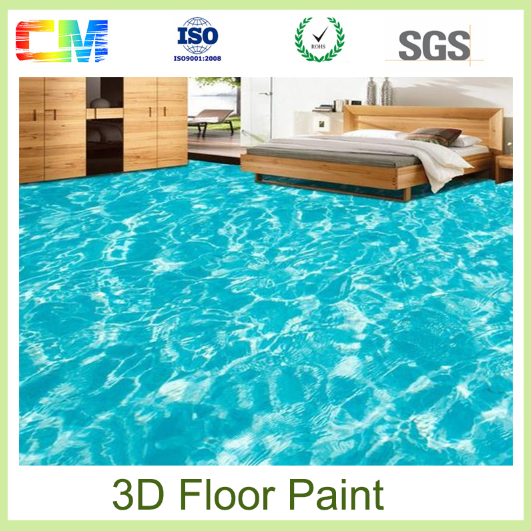 New product water based excellent stain 3d epoxy flooring coating
