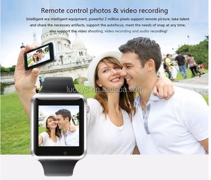 4-5 Hours remote camera <strong>A1</strong> V8 Q8 Newest Wearable Bluetooth smart watch phone 2016