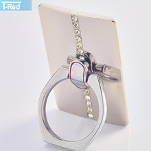 Metal Portable Ring Phone holder with Diamonds for Mobile Phone