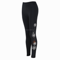Lady's workout spider web fleece lined yoga pants