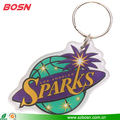 Hot sell clear canada souvenir keychain plexiglass basketball keyring