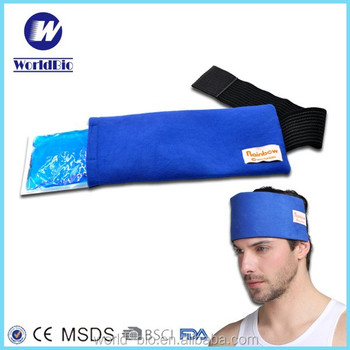 Gel cold and hot pack for headache