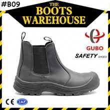 Cheap Work Boots Suede Leather Anti-Puncture Safety Shoes Steel Toe for Men