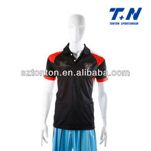 100% dry fit polyester customized soccer uniform
