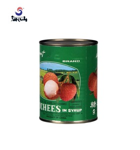 Canned fruit seasonal instant canned lychee whole lychee in tin