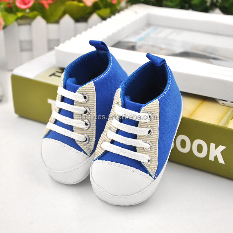 Solid color cotton newborn toddler shoes high top baby boys shoes