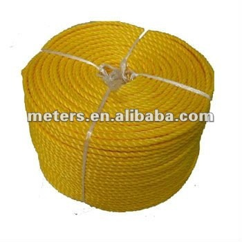 "1/4"" 1/2"" Yellow Twisted 3ply PE Braided Rope"