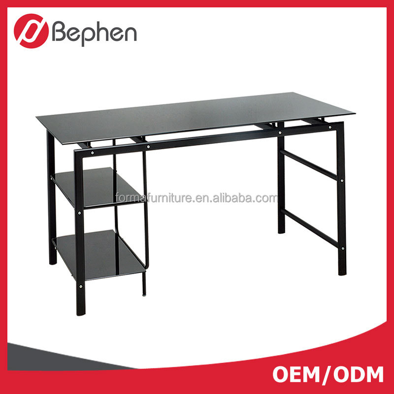 Modern design small glass office computer desk