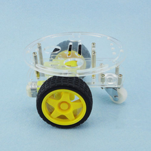 1Set 2WD Mini Round Double-Deck Smart Robot Car Chassis DIY Kit for Uno in Selling