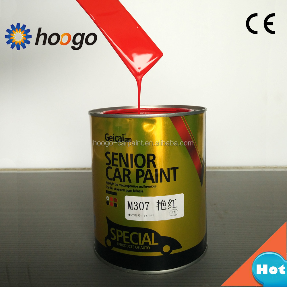 Yaopai solid color bright red 2K car paint <strong>coating</strong>