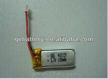 hot sale Rechargeable Lithium polymer Battery GEB302222 3.7V 100mAh