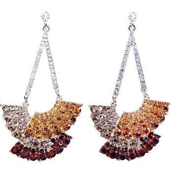 trendy jewelry silver rhinestone earring, silver gift jewelry