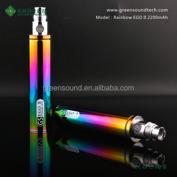 2015 Newest Unique Hookah pen Ego Pen Rainbow Ego Battery 2200mah Electronic Cigarette Vape Pen
