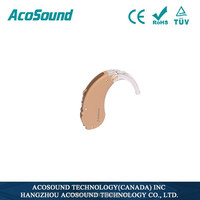 Canada Brand Aid AcoSound Acomate 610 BTE behind the ear Personal Voice Amplifier China Portable Hearing aid