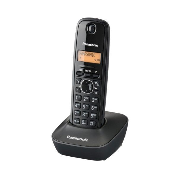 DECT telephone with phonebook for 50 names and numbers Panasonic KX-TG1611 FXB Black color