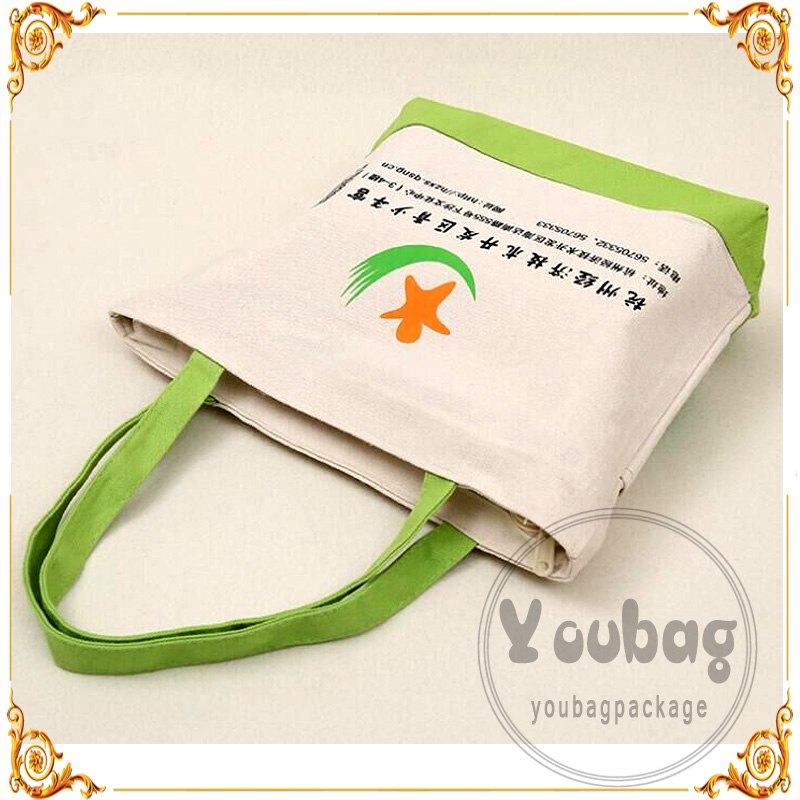 Cheap advertising tote sedex cotton bags with gold stamping LOGO