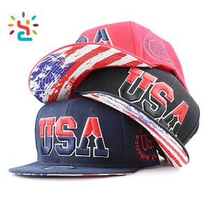 Custom 3D embroidery USA flag baseball hat Promotion corduroy blank snapback  cap black sports caps with 1ceece7c1194