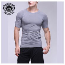 Sportswear Product Type and Adults Age Group 95 cotton/5 elastane grey t shirt