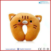 car travel cute cat neck pillow