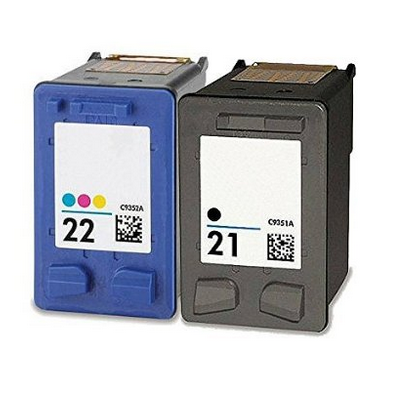 High Yield Black and Standard Office Remanufactured Inkjet Cartridge For HP C9351AE 21 22 Printing Ink Cartridge