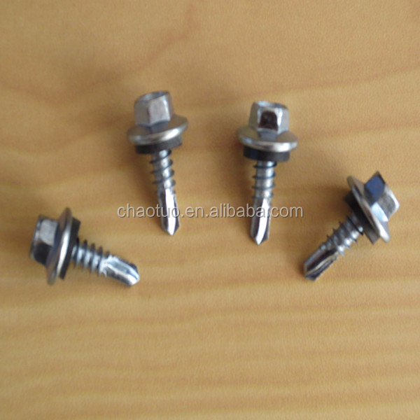 China hex head zinc plated self drilling <strong>screws</strong> manufacturer