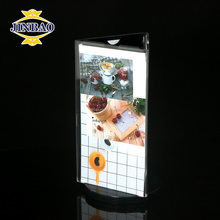 JINBAO Acrylic table stand menu holder and acrylic name card display stand