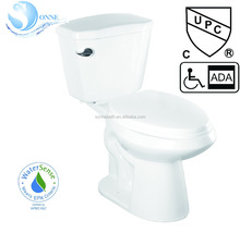 White 1.28-GPF (4.85-LPF) 12 Rough-In cUPC CSA WaterSense HET Elongated Two-Piece ADA Height Toilet SA-2189