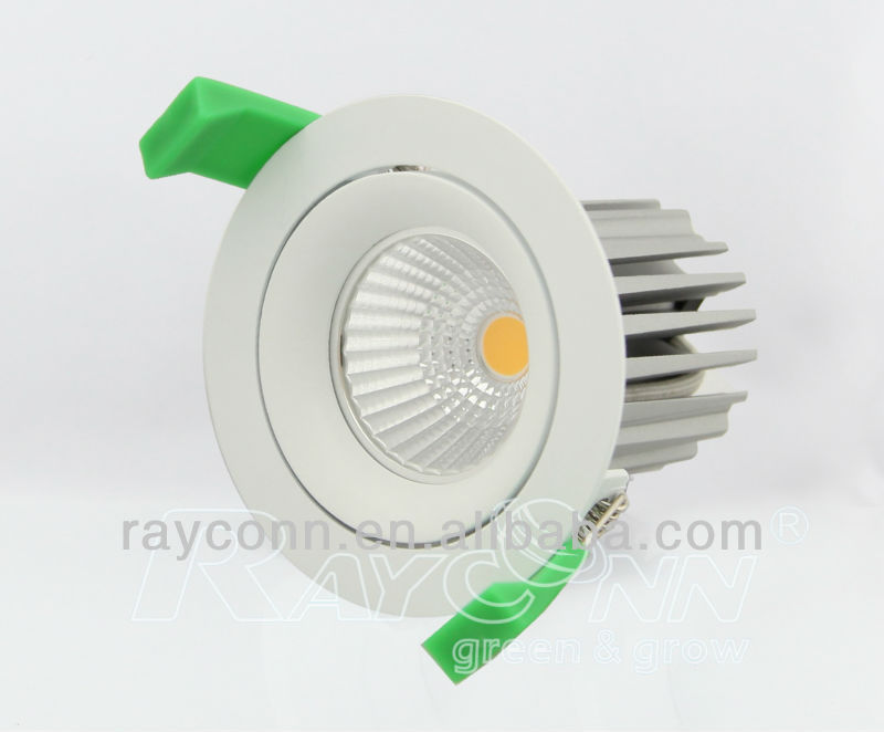 fixture hand interchangeable bridgelux citizen cob recessed high power led downlight 8w 9w 11w reflector lens