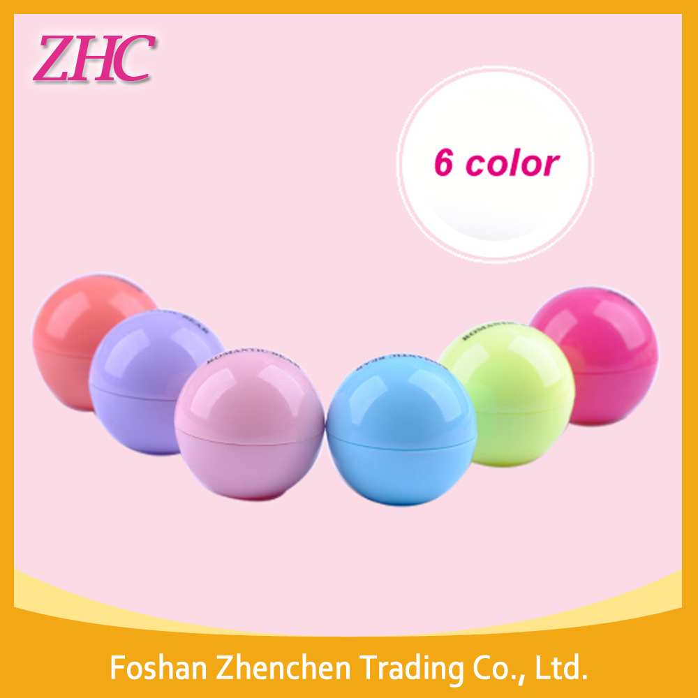 Colorful Tennis Round Oval Ball Shape Lip Balm ball,Egg shape lipstick For 2016 New Prodcuts