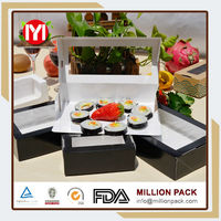 Printable paper sushi box, sushi food package boxes