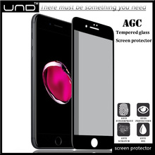 0.33mm colorful cell phone anti spy privacy tempered glass screen protector film for iphone 7