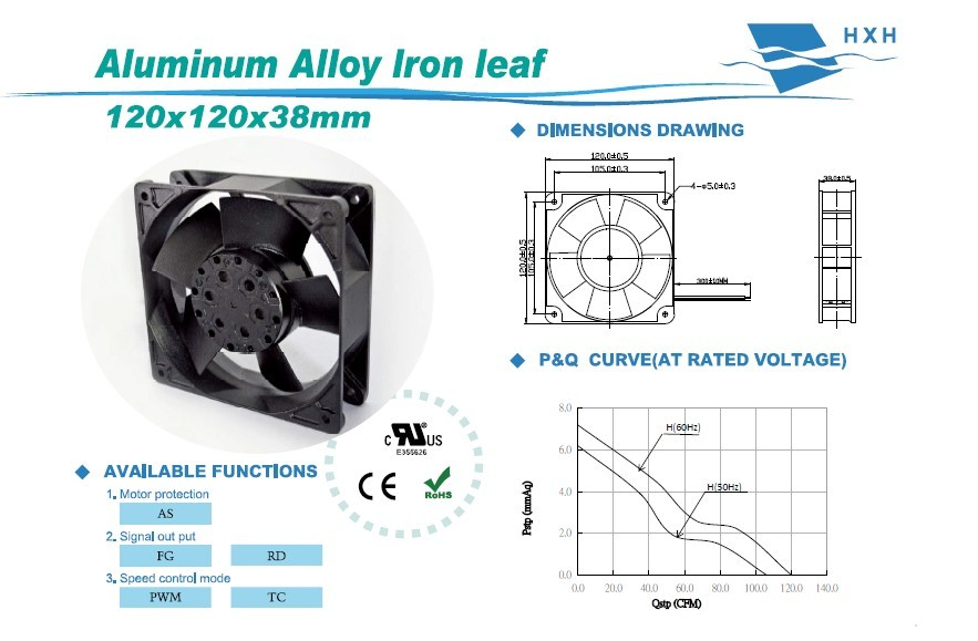 Aluminum Alloy lron leaf 120*120*38MM