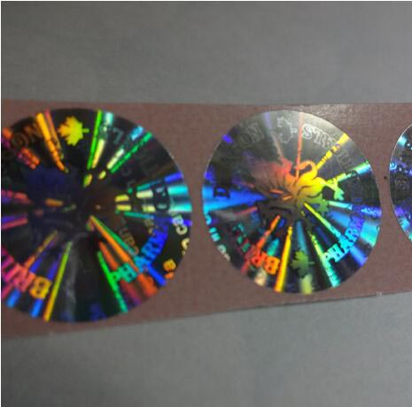 Professional printing gold silver transparent ID hot stamping hologram sticker