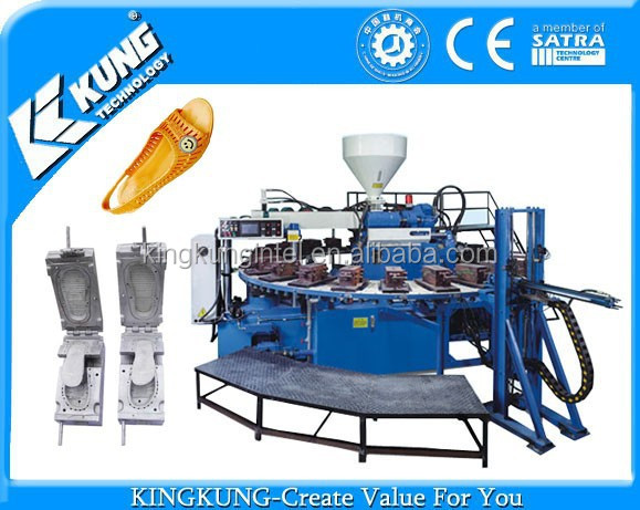 PVC airblowing injection machine for making fashion comfortable sole slipper sandal shoes