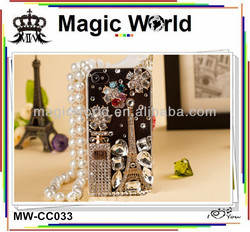 FOR APPLE iPHONE 4 4S LUXURY 3D PEARL DIAMOND CRYSTAL CASE BLING DIAMANTE COVER