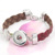Interchangeable 4 Color Braid Leather Snap Bangle Bracelet for Women with Interchangeable 18mm Button Jewelry DIY Pulsera Bijoux