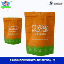 Waterproof Aluminum Foil Whey Protein Powder Packaging Bag With Ziplock