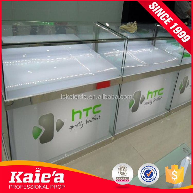 2017 Glass Mobile Phone Display Cabinet made in china