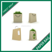 GOOD QUALITY WATERPROOF BROWN PAPER BAGS FOR FLOWERS PACKAGING WITH HANDLES