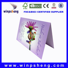 factory Haiying free design paper craft customized sample birthday invitation card