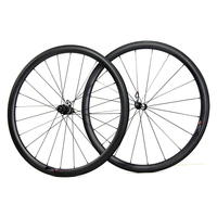UD/3k matte lightweight chinese carbon wheels clincher 38mm compatible tubeless road bicycle wheelset with basalt brake surface