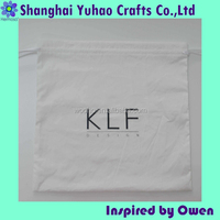 Custom house hold laundry bags cotton drawstring bag