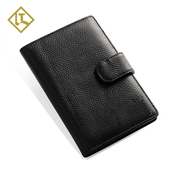 Custom fashion genuine  card holder passport cover case rfid leather travel  leather holder passport wallet