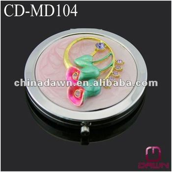 flower pocket mirror of wedding return gift CD-MD104