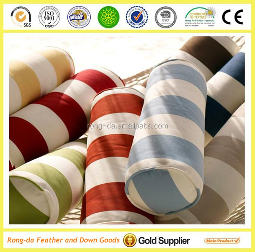 polyester printed stripe indoor outdoor cushion /nice design decorative cushion