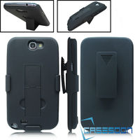 Mobile Phone Case,Hybird Combo Case ,Shell Holster Case embossed Belt Clip+Stand Case For Samsung Galaxy Note 2 N7100