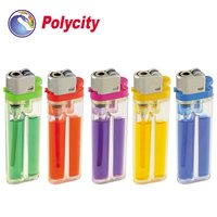 Hot sell flint disposable plastic lighter with color gas
