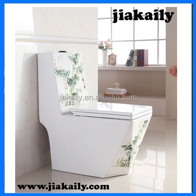 jkl-7521hot sale Chaozhou bathroom sanitary ware Middle East gold color washdown one piece toilet
