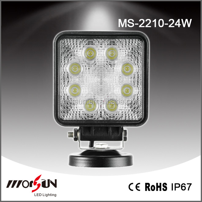 Hot sell 24W Square Hot sell High quality led 4x4 driving light for For SUV, ATV, truck lift, train, boat, bus, tanks